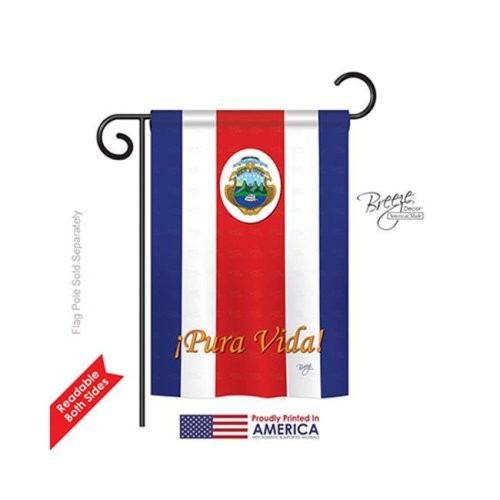 Breeze Decor 58158 Costa Rica 2-Sided Impression Garden Flag - 13 x 18.5 in.