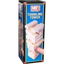 M.Y Traditional Games Tumbling Tower | Wooden Blocks Tower Game