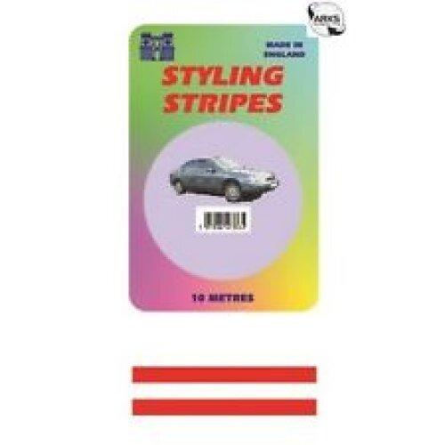 2mm Mini Double Red 10 Metres CoachLine Pin Stripe Pinstripes Go Faster Tape