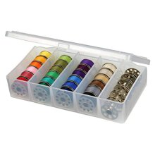 ArtBin 8155AB Sew-lutions Bobbin and Supply Box Clear Sewing Storage Container Polyester 5.875 in x 3.5 in. x 1.3125 in.