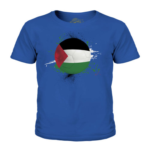(Royal Blue, 5-6 Years) Candymix - Palestine Football - Unisex Kid's T-Shirt