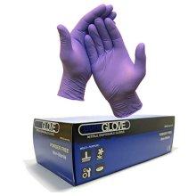 1 Box of 100 x Violet / Purple Disposable Nitrile Gloves Size Medium