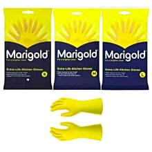 6 PAIRS MARIGOLD KITCHEN GLOVES ORIGINAL S / M / L EXTRA LIFE CLEANING & WASHING