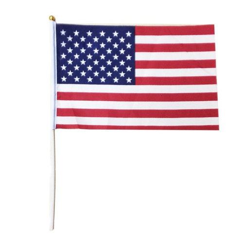 USA WAVING FLAG 140X210MM