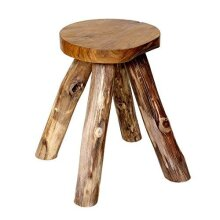 Brillibrum Design stool made of teak wood - side table stool made of wood stable natural stool teak without chemicals root wood table solid wood