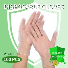 100Pcs Disposable Gloves Powder Free Protection