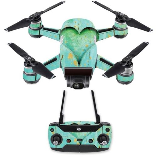MightySkins DJSPCMB-Heartwood Skin Decal for DJI Spark Mini Drone Combo Sticker - Heartwood