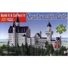Neuschwanstein Castle 3 D Puzzle 151 Pieces Numbered Puzzle size 17 7 x 7 1 x 11