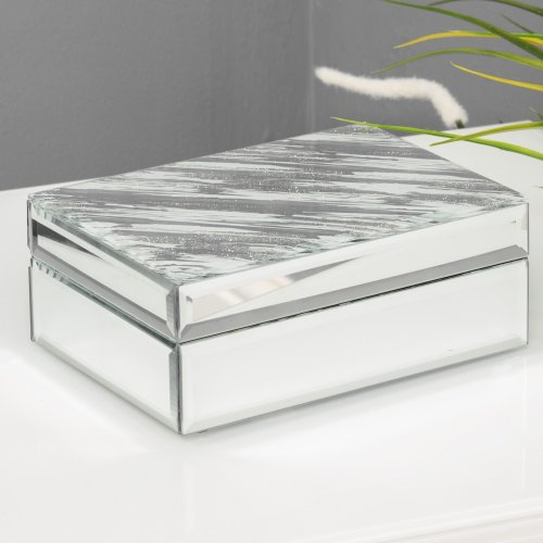 Hestia Mirror Glass Abstract Jewellery Box