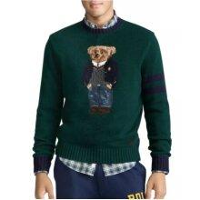 POLO RALPH LAUREN Green Blue Wool Teddy Bear Jumper Sweater Not Shirt Top Hoodie Sweatshirt Coat Jacket Tracksuit