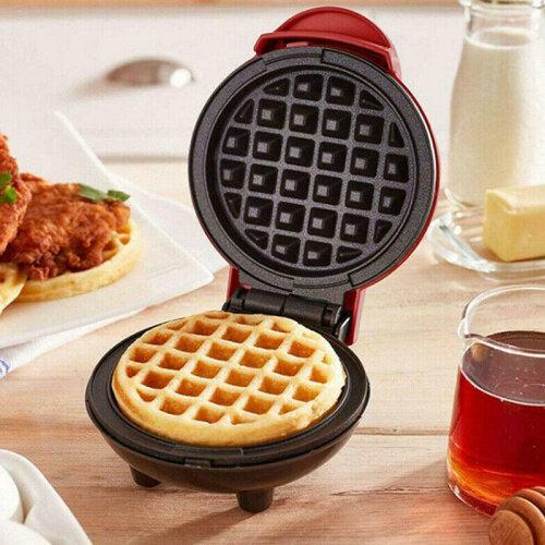 Kitchen Supplies Non-Stick Waffle Maker Baking Pancake Snack Paninis