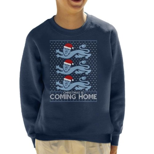 Christmas Is Coming Home The Lions England Football Kid's Sweatshirt