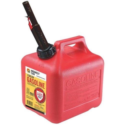 Midwest Can 248470 2 gal Red High Density Polyethylene Gas Can