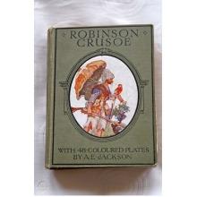 First Edition,Robinson Crusoe 1921,AE Jackson Robinson Crusoe 1921 - Used