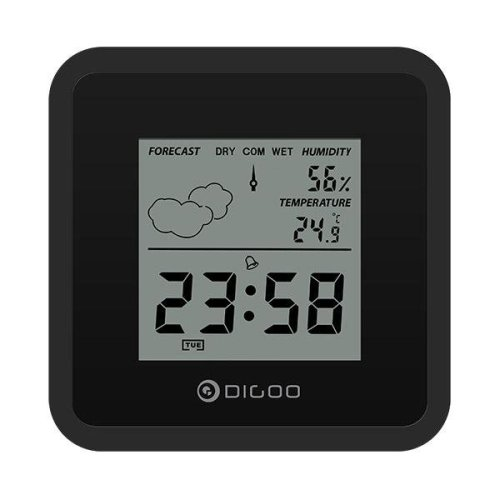 [2019 Third Digoo Carnival] Digoo DG-FC25 Mini Almighty Weather Station Hygrometer Thermometer Forecast Sensor Alarm Clock