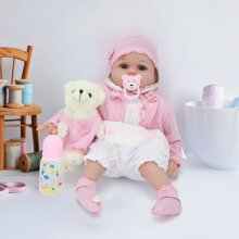 22'' Lifelike Reborn Baby Dolls Vinyl Soft Silicone Newbor Gifts