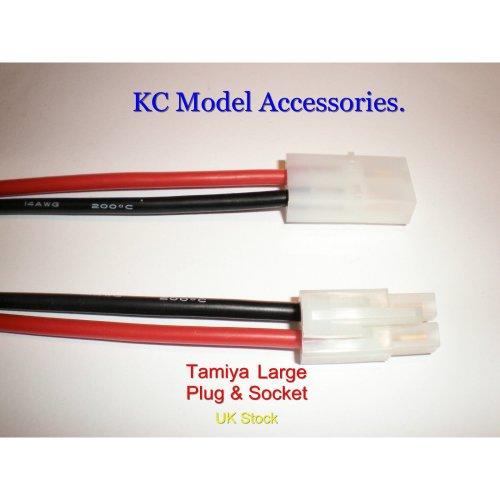 Big Tamiya Battery Connector Plug & Socket 14awg 200mm Long Wire UK Stock.