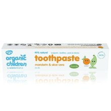 Children Mandarin Toothpaste with Fluoride, Organic 50ml (Green People)