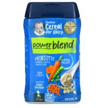 Gerber, Powerblend Cereal, Oatmeal, Lentil, Carrots & Peas, 227g