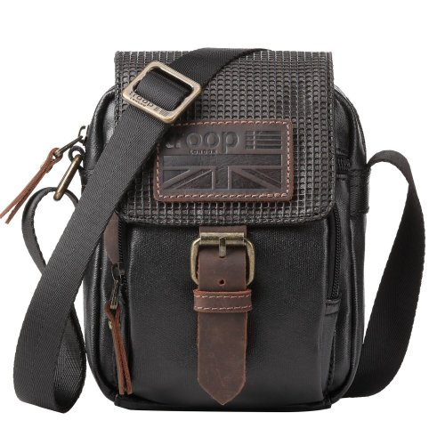 TRP0457 Troop London Classic Canvas Messenger Bag | Buy Bags Online | Canvas Messenger Bags | leather canvas backpack