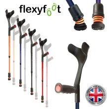 Flexyfoot Shock Absorbing Soft Grip Adjustable Crutches, Choice of Colours Available, Improve Safety, Improve Grip, Reduce Shocks & Jarring