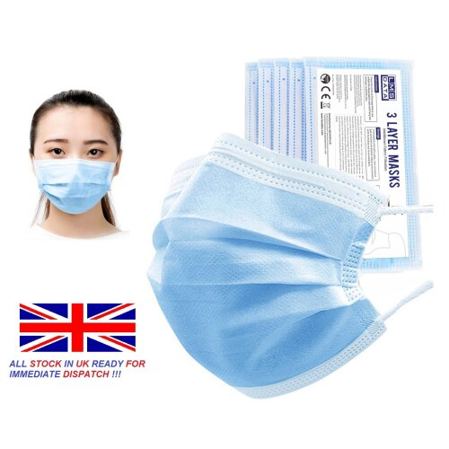 50Pcs Disposable Mouth Face Mask Dust-Proof Personal Protection