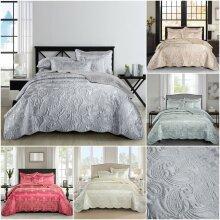 Jacquard Quilted Bedspread Comforter 3Pcs Bedding
