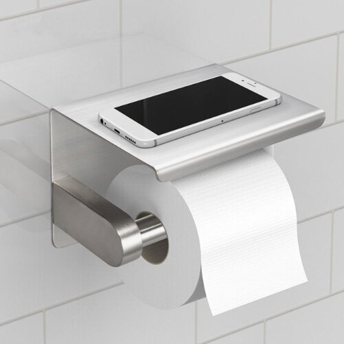 Toilet Tissue Holder Roll Papers Stand Dispensers Wall Mounted Silver