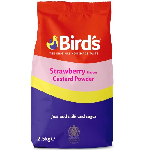 Birds Strawberry Flavour Custard Powder - 1x2.5kg