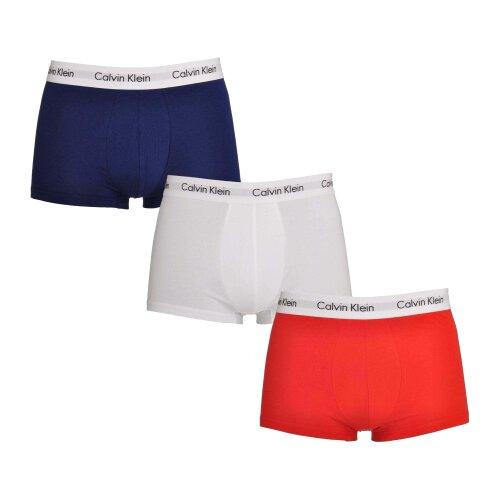 (S) Calvin Klein Men 3 Pack Cotton Stretch Trunk Boxer