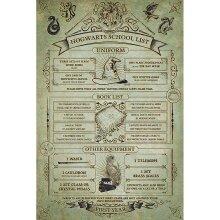 Harry Potter Hogwarts School List Poster
