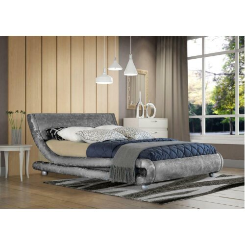 Grayson Crushed Velvet Bed Frame with Tanya Mattress