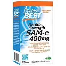 Doctor's Best  SAM-e, 30 tablets - 400mg Double Strength