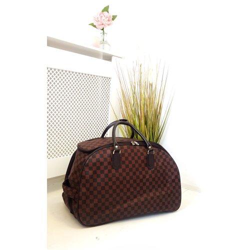 IKRUSH Womens Sally Checked Travel Trolley Bag