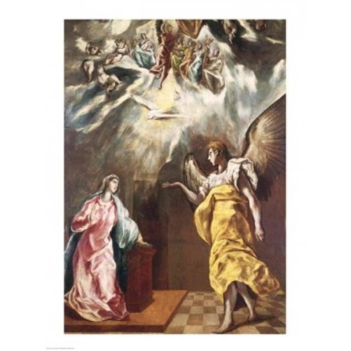 The Annunciation Poster Print by El Greco - 24 x 36 in. - Large