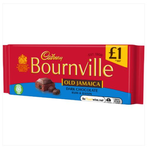 18pk Cadbury Bournville Old Jamaica Dark Chocolate - 18 x 100g