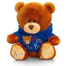 KEEL TOYS 20CM PIPP THE BEAR with HOODY BLUE (SB0750)