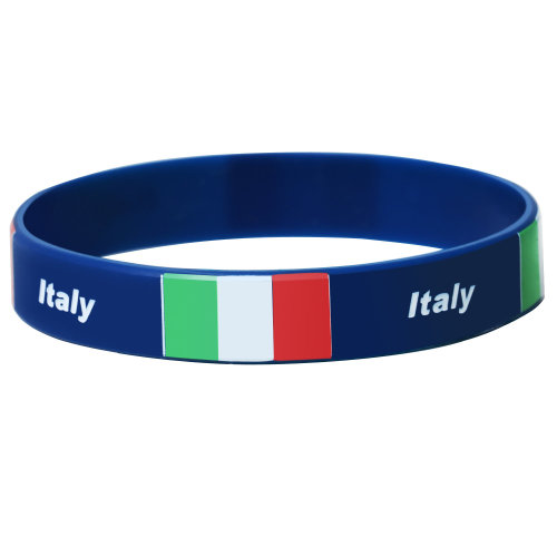 TRIXES Italy Silicone Wristband - Bracelet for Sporting Tournaments - Patriotic Support For World Events…