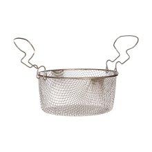 Deep Fryer Basket, Tin Plated Steel, Double Handles