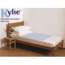 Kylie Bed Pads  50cm  x 74cm With Wings  1l Absorbency  Blue