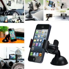 Universal 360 In Car Windscreen Suction Clip Grip Clamp Mobile Phone Mount Holder