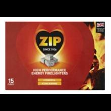 ZIP High Performance Energy Block Firelighters - 15 Cubes Open Fire