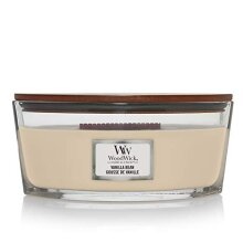 Woodwick Ellipse Scented Candle with Crackling Wick | Vanilla Bean | Up to 50 Hours Burn Time