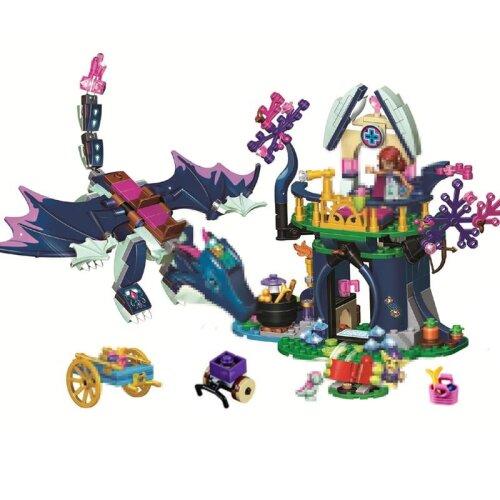 Fairy Elves The Goblin King,s Evil Dragon Building Blocks Toy Sets