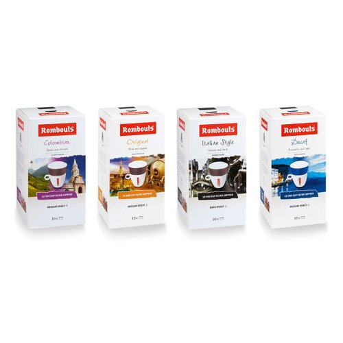 Rombouts One Cup Filter Coffee pack of 40