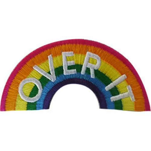 Patch - Rainbows - Over It Icon-On p-dsx-4828
