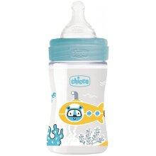 feeding bottle silicone transparent/blue 150 ml (0m+)