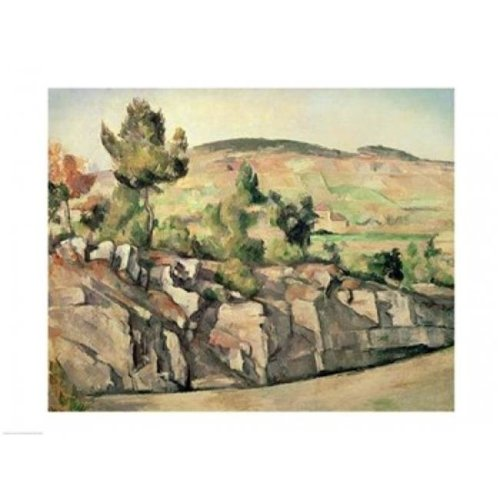 Hillside in Provence Poster Print by Paul Cezanne - 36 x 24 in. - Large