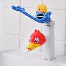 Water Tap Children's Sink Extender Baby Hand Washing Faucet Extension Spout Artifact Water Pipe Splash-proof Cartoon(#03)