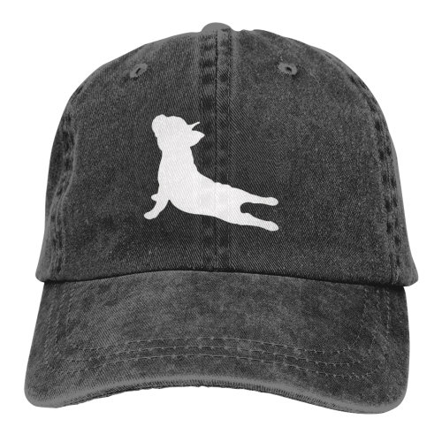 French Bulldog Yoga Denim Baseball Caps